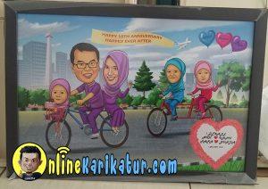 jasa-karikatur-keluarga-anniversary