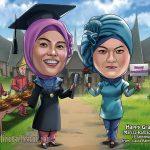 Karikatur Wisuda Untuk Hadiah dan Kenangan Tak Terlupakan
